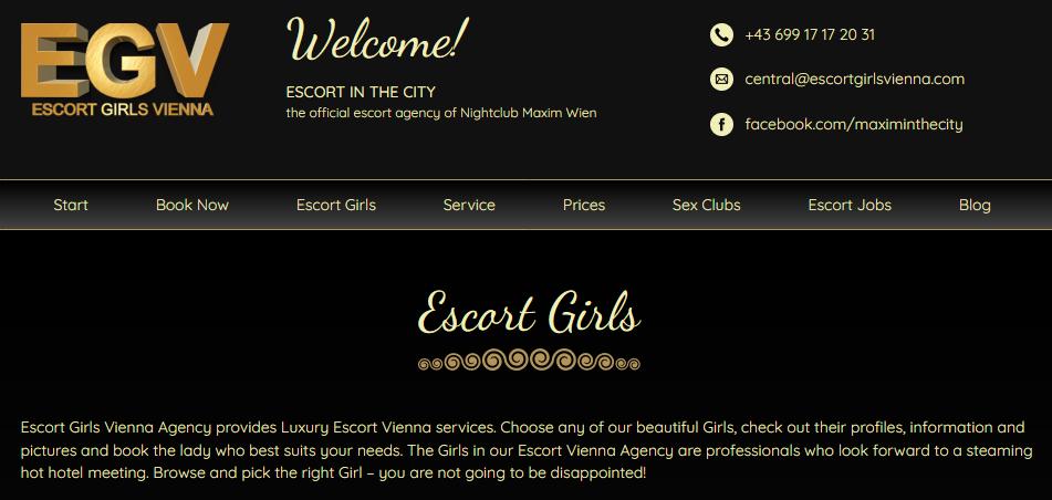 header of Vienna Girls at EGV site